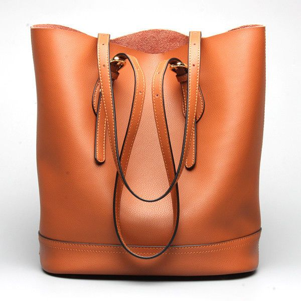Ekphero Women Genuine Leather Handbag High End Tote Bag Bucket Bag #Ekphero #TotesShoppers