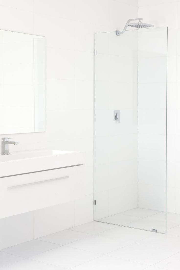 Shower Panel Kit Frameless 10x2000x875mm Tf Glass Panel - Bunnings Warehouse
