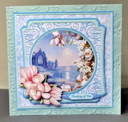 TRANQUIL OCEAN Sympathy Card Topper Quick Decoupage on Craftsuprint designed by Janet Briggs - made by Kristina Norbat