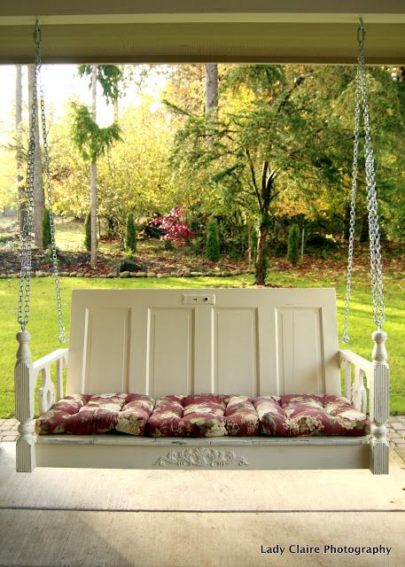 372 best images about garden recycle ideas on pinterest for Old porch swing