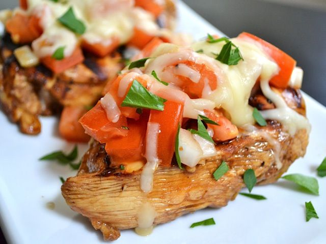 balsamic bruschetta chicken, add basil and remove cheese for paleo version