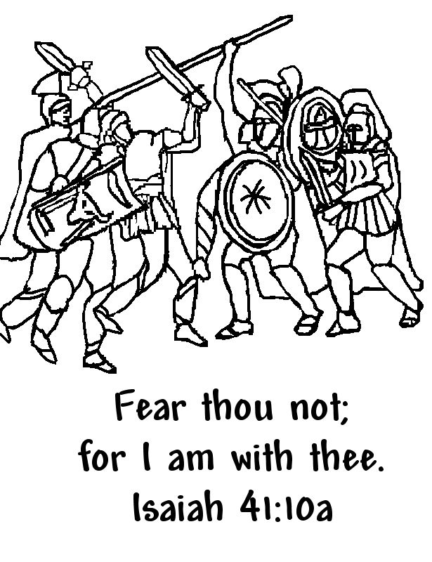 Bible Verse Coloring Pages Fear