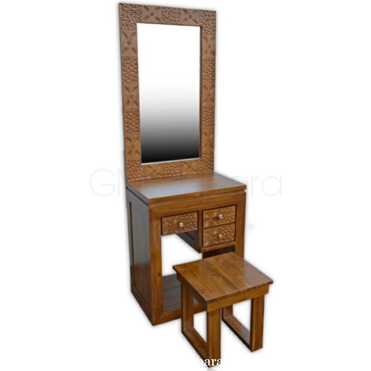 Meja Rias Minimalis Koin Kecil, meja rias jati, meja rias lampu, meja rias modern, meja rias kayu, meja rias hello kitty, meja rias anak, meja rias putih,