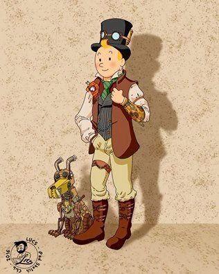 SteamPunk!Tintin // right on!
