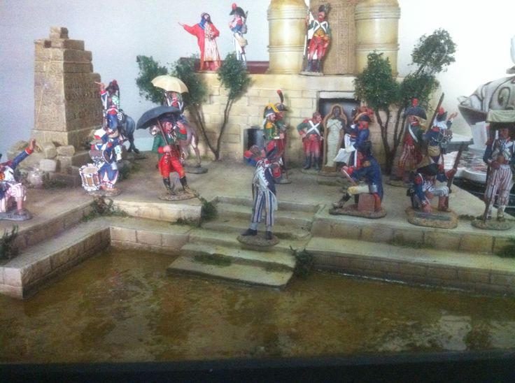 1/32 scale King and Country, Napoleon in Egypt, (just build the diorama ) by ademodelart