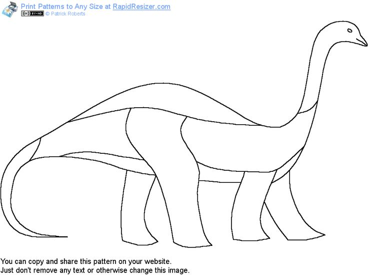 Free Brontosaur pattern. Get it and more free designs at http://Online.RapidResizer.com/patterns.php
