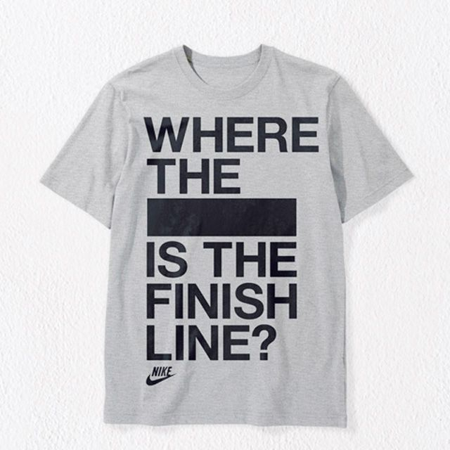 Where the XXXX is the finish line. hahha...if i ever run a marathon im wearing this shirt