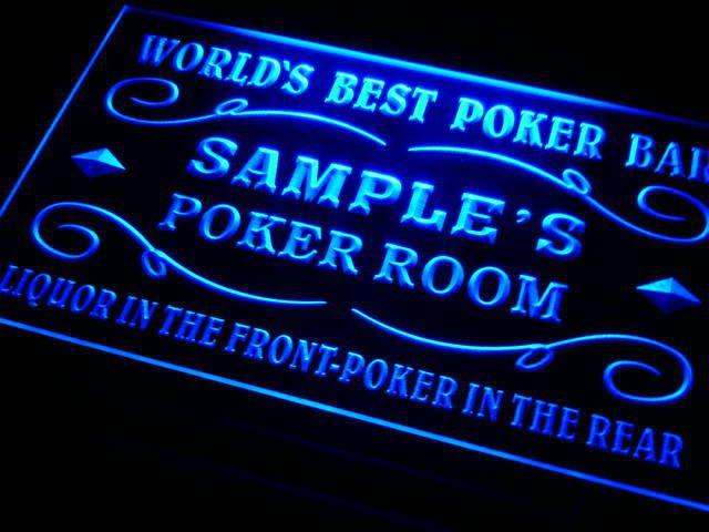 Дп-тм Имя Персонализированные Пользовательские Лучший в мире Покер-Рум Ликер Пивной Бар Неоновый Знак с Вкл/Выкл переключатель 7 цвета