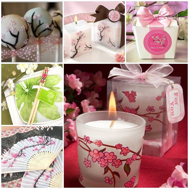Cherry blossom wedding favors