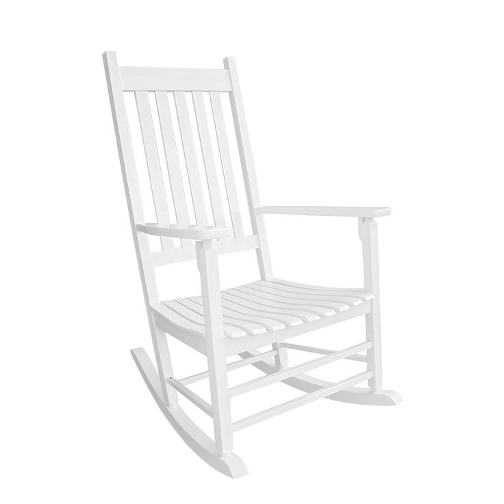 "Coismo Solid Wood White Rocking Chair Country Plantation Porch Rocker. Comfortable: 3"" wide armrest, 30"" high backrest, 21"" wide seating, provides you with a completely relaxed rest experience. Sturdy: Modern furniture heavy-duty structure to withstand your body. Environmental: Made from sustainable solid wood,environmentally friendly. Assembled: Easy to assemble, all tools included, Please see product details. Durable: Many years of usefulness and easy care in mind."
