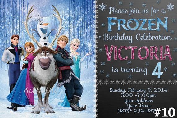 Hey, I found this really awesome Etsy listing at https://www.etsy.com/listing/186261533/frozen-birthday-invitation-frozen