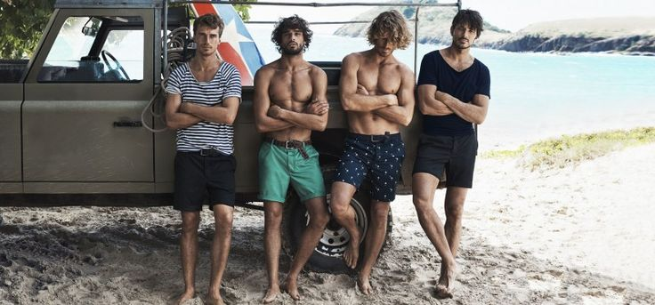 Clément Chabernaud, Marlon Teixeira, Clay Pollioni and Andres Velencoso Segura poses for a casual image on the beach.