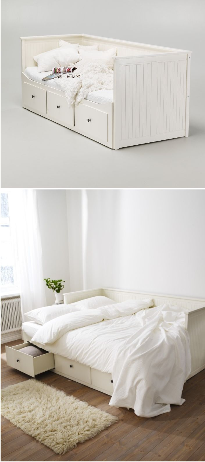 All white bedroom ikea - Create A Welcoming Bedroom Away From Home For Guests With The Hemnes Daybed It Can