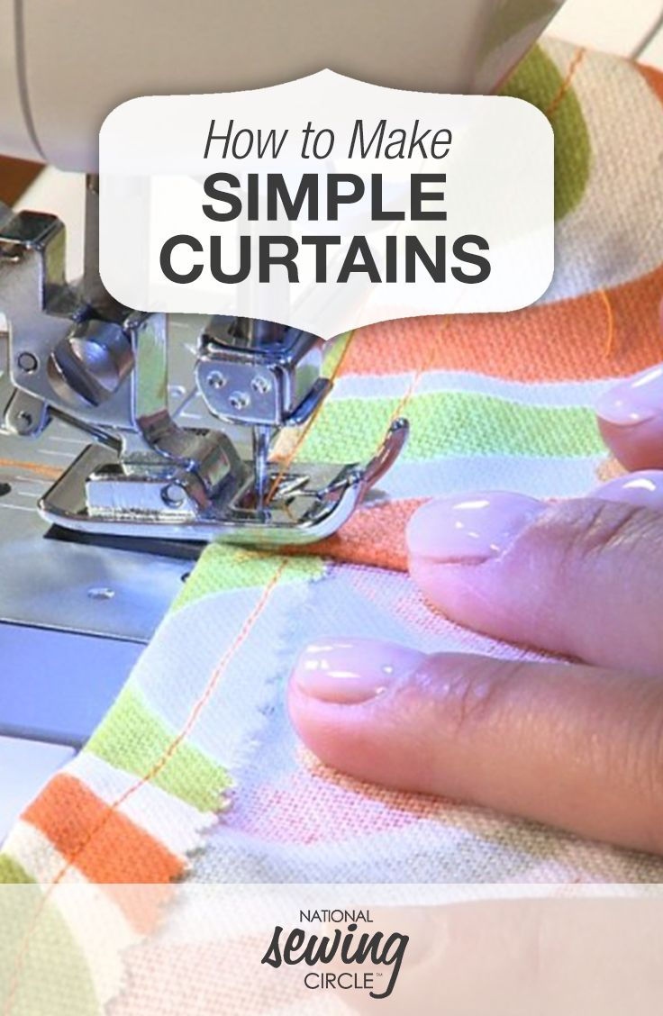 How to Make Simple Curtains | National Sewing Circle Video