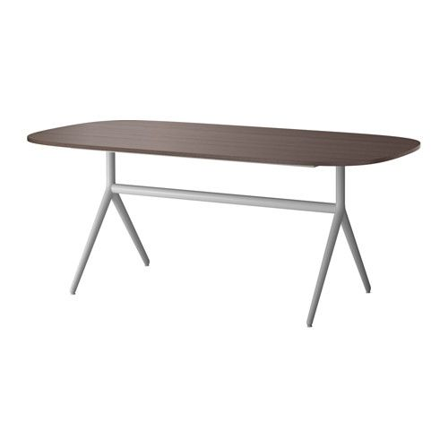 Oppeby table dark brown gray dark brown oppmanna gray for Ikea table rectangulaire