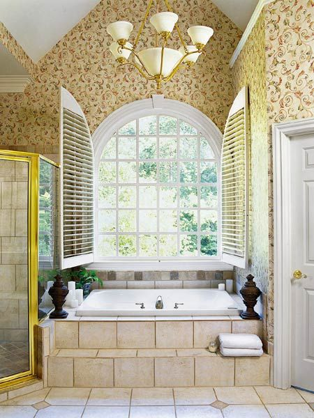 Garden Tub Bathroom Ideas garden tubs design ideas pictures remodel and decor page 10 A Beautiful Arched Window Situated Just Above The Garden Tub In The Master Bath Pictured Here Cool Bathroom Ideasbathroom