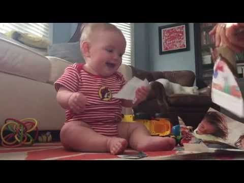 Viral video shows baby laughing when parents tear catalog - TODAY.com
