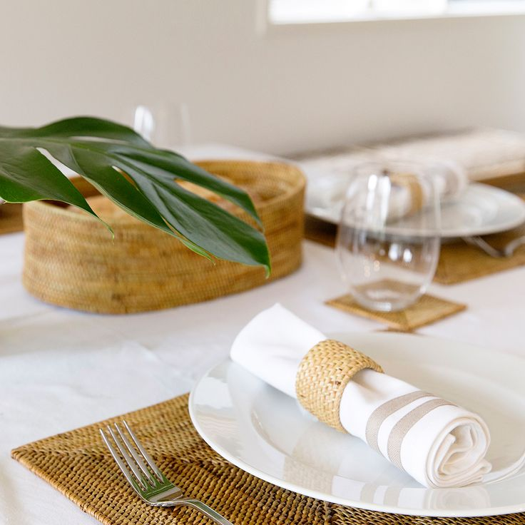 Entertaining over the Summer? Our Fine Weave Rattan Coasters, Placemats and Napkin Rings will have you impressing guests with more than just your culinary skills!