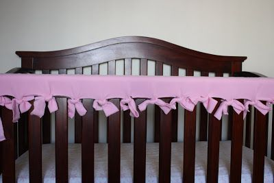 Navigating the Mothership: Gone Crafty: A Cheap & Easy Crib Rail Protector Tutorial