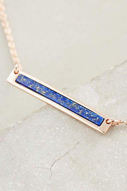 Blue Sea Bar Necklace - anthropologie.com
