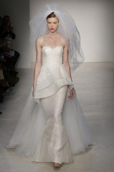 Amsale Fall/Winter 2013 | Wedding Trend 2014: 12 Pretty Peplum Style Wedding Dresses