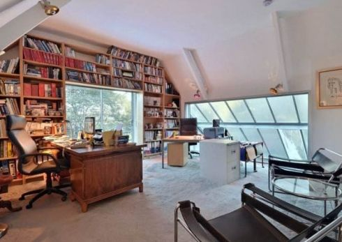 Study in the eaves of the converted Coach House