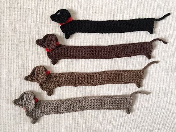 Dachshund de ganchillo Crochet marca de libro marcadores de