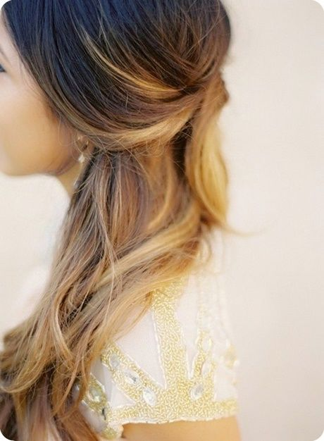 Festive hairstyles open hair curls