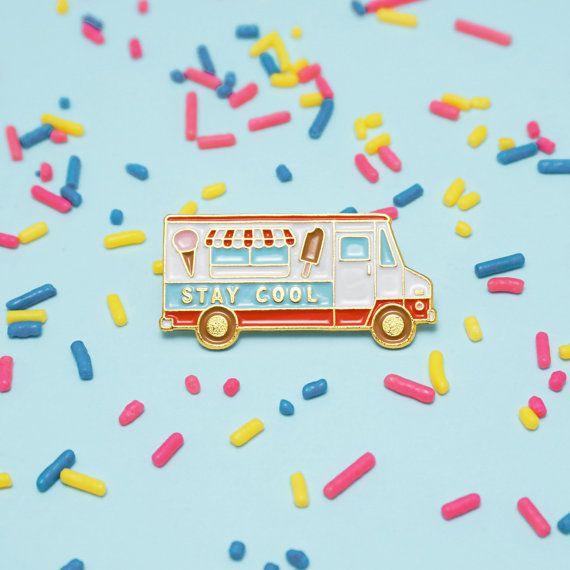 Ice Cream Truck Pin https://www.etsy.com/uk/listing/288369073/stay-cool-ice-cream-truck-enamel-pin