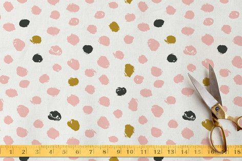 Painted Dots Fabric by Stacey Meacham at minted.com