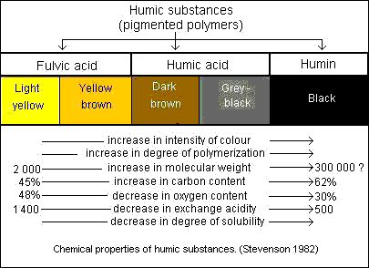 Properties of humic substances  Humic acids- the fraction of humic substances that is not soluble in water under acidic conditions (pH < 2) but is soluble at higher pH values. They can be extracted from soil by various reagents and which is insoluble in dilute acid. Humic acids are the major extractable component of soil humic substances. They are dark brown to black in color.  Fulvic acids- the fraction of humic substances that is soluble in water under all pH conditions. They remains in…