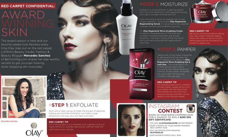 olay ad in latina magazine #beauty #skincare #awardseason