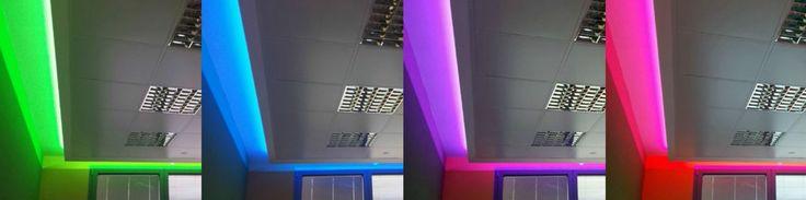 Recessed RGB LED profiles.  STREET LED profiles @ www.atenalux.com