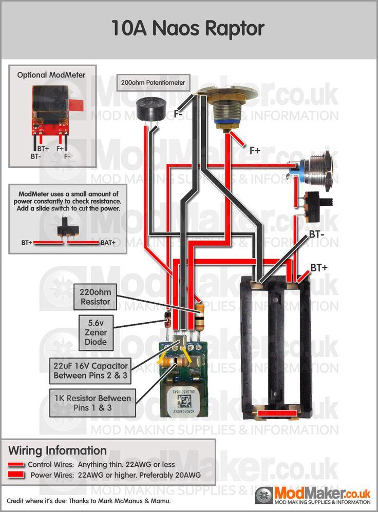 10A Naos Raptor Wiring Diagram | Vaporized | Vape diy