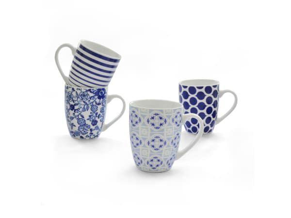 Eetrite Morocco Mugs, Set of 4 - Eetrite is in the business of making every meal special. Their range of cookware and serveware is made to encourage the sharing of meals and memories with others around the dinner table. With a focus on excellent craftsmanship and high quality materials, these kitchen favourites are sure to make you fall in love with cooking and spending time in the heart of the home all over again.