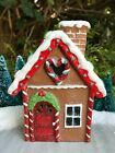 Miniatur Fee Garten Weihnachten Mini Lebkuchen Kekse Haus W Rot Accents Garte …