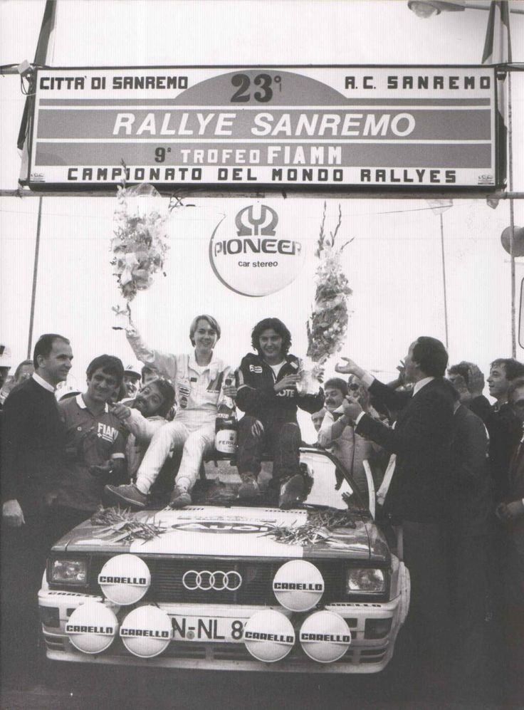 The 1981 Rally Sanremo was the maiden victory for Michele Mouton and the Audi Quattro-the first 4WD rally car in WRC
