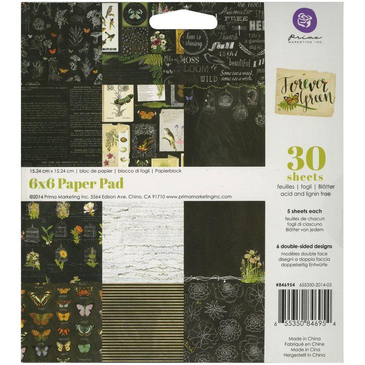 "Prima Marketing Paper Pad 6""X6"" 30/Pkg-Forever"
