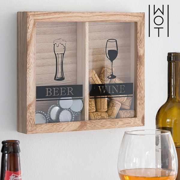 Beer & Wine Wall Decoration for Stoppers - Διακοσμητική κορνίζα αποθήκευσης φελλών & καπακιών Διακόσμηση