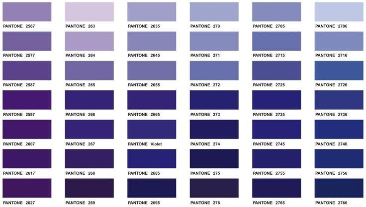 Purple Pantone Color Chart Color Purple Pinterest