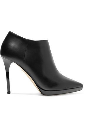 8327f1637840 JIMMY CHOO WOMAN LINDSEY LEATHER ANKLE BOOTS BLACK.  jimmychoo  shoes