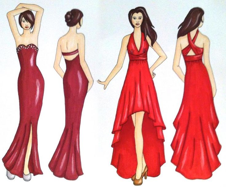 Prom dress sketches illustrations my artwork for How to be a fashion designer at 14