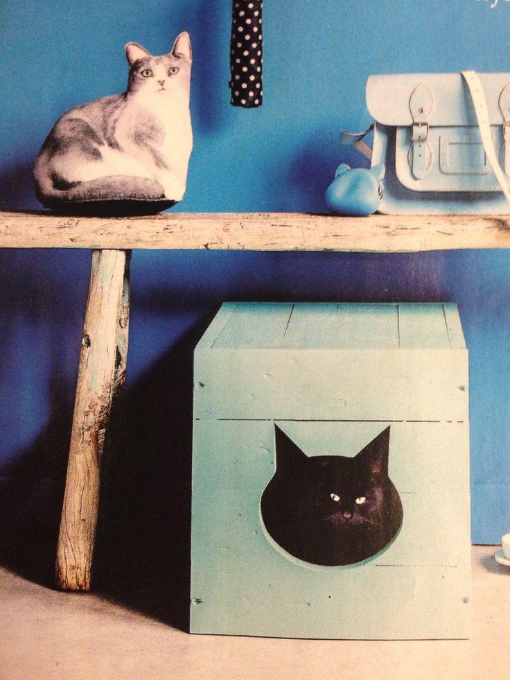Zelf kattenbak maken. 101 woonideeen januari 2014.