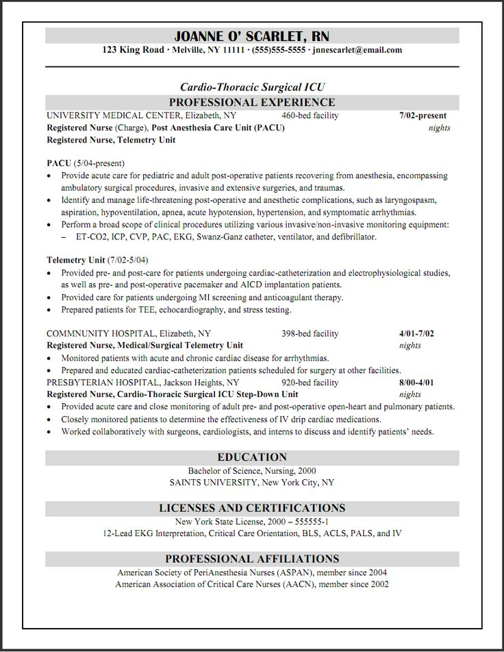 registered nurse resume template australia examples free professional