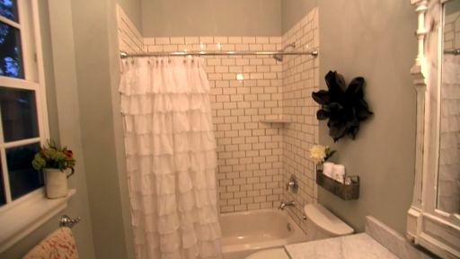 Fixer Upper Extras: Light and Airy Small Bathroom