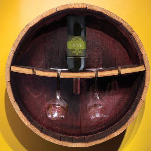 $98.00  Bring home the casual elegance of your favorite winery with this hand crafted stemware rack made from aged French oak barrels, each used in finest wine production for 2 – 5 years.