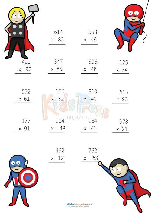 Pre School Worksheets » Dads Worksheets Multiplication - Free ...