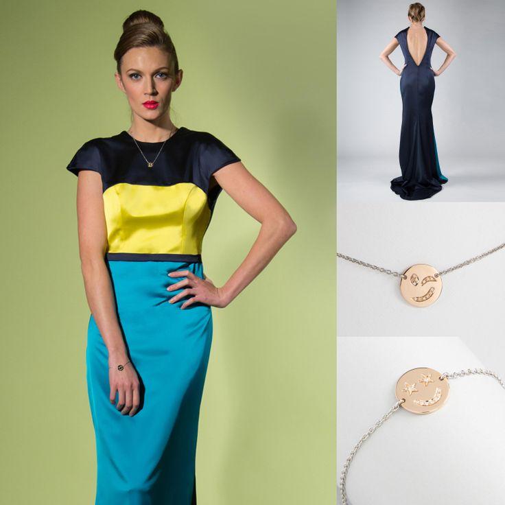 Pop Party Outfit Un look glam per un party sofisticato e ispirato alla pop-art. Linee minimal, block colors e gioielli