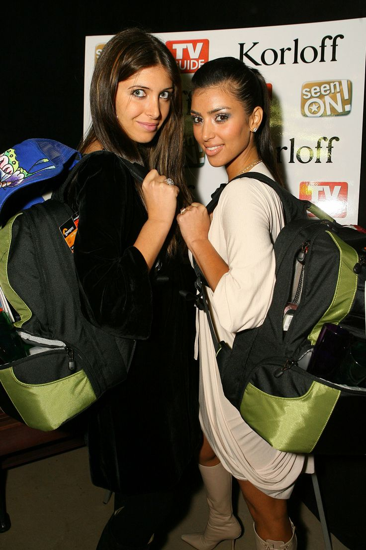 Kim Kardashian and her friend Brittny Gastineau attended a launch party together in LA in December 2006.