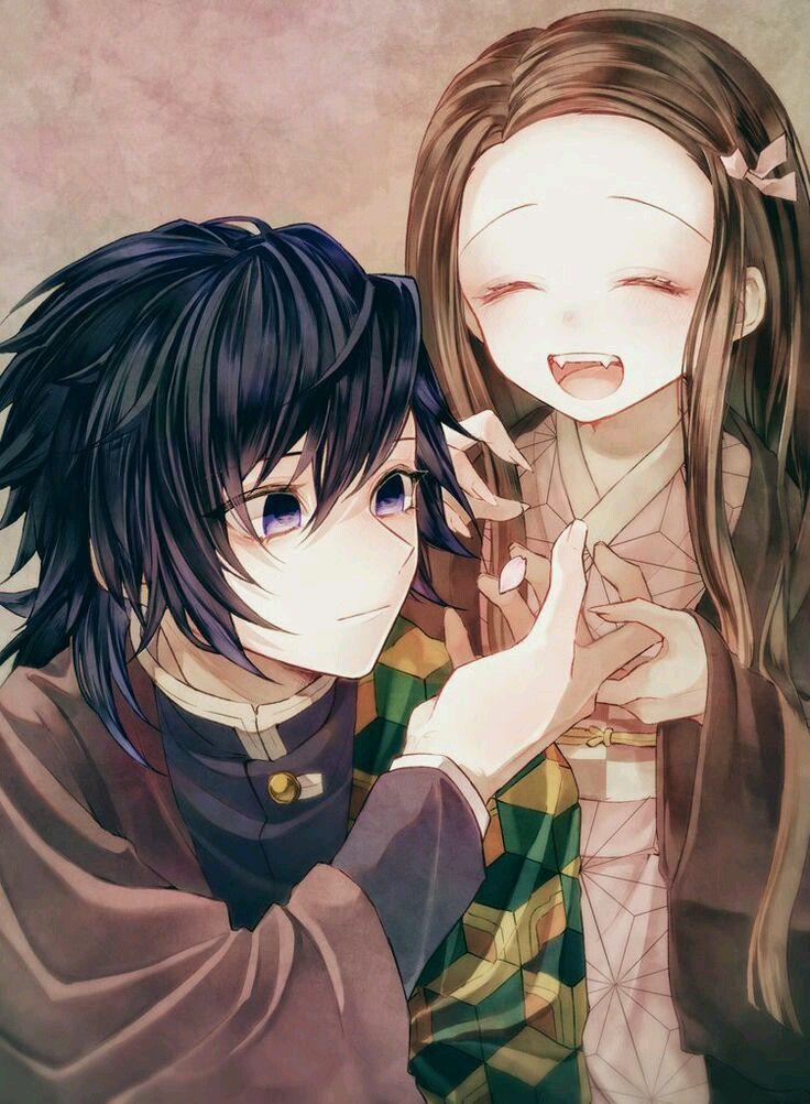 Pin en Giyu y Nezuko